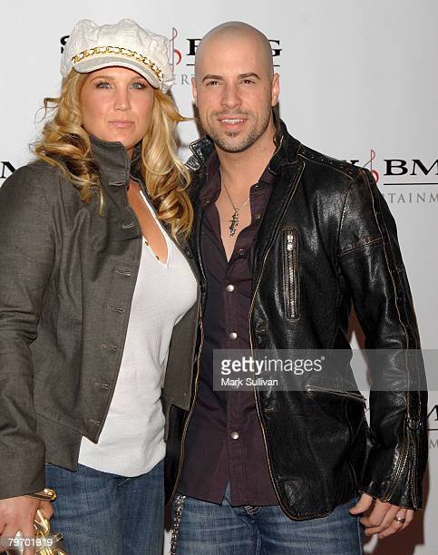 Singer Chris Daughtry and wife Deanna Daughtry arrive at the Sony/BMG Grammy After Party held on February 10 2008 at the Beverly Hills Hotel in...