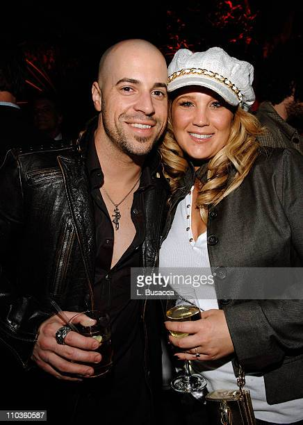 Singer Chris Daughtry and wife Deanna Daughtry during the Sony/BMG Grammy After Party at the Beverly Hills Hotel on February 10 2008 in Beverly Hills...