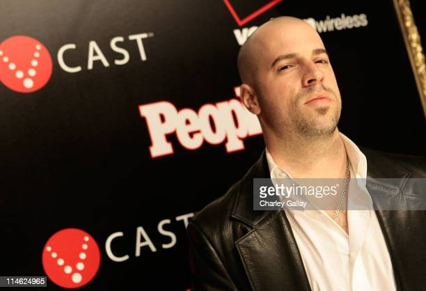 Singer Chris Daughtry attends the Verizon Wireless and People Magazine party to honor Timbaland at the Avalon Hollywood on Febuary 8 2008 in Los...