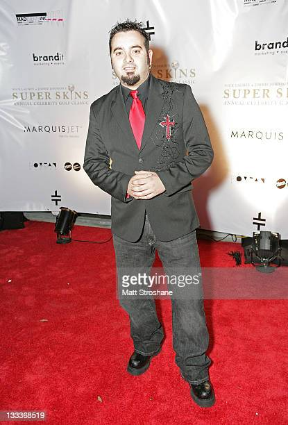 Singer Chris Kirkpatrick arrives at the Super Skins Kickoff Party hosted by Nick Lachey and Jimmie Johnson at the Hula Bay Club on January 30 2009 in...