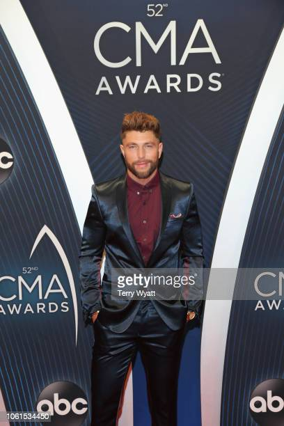 Singer Chris Lane attends the 52nd annual CMA Awards at the Bridgestone Arena on November 14 2018 in Nashville Tennessee