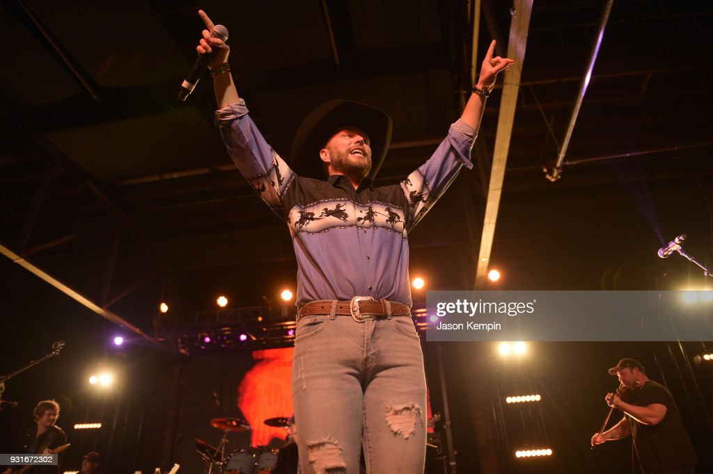 Singer Chris Lane performs at Marathon Music Works on March 13, 2018 in Nashville, Tennessee.