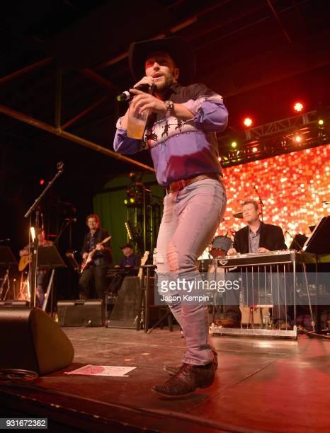 Singer Chris Lane performs at Marathon Music Works on March 13 2018 in Nashville Tennessee
