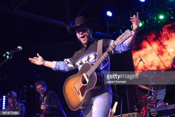 Singer Chris Lane performs at Marathon Music Works on March 13 2018 in Nashville Tennessee