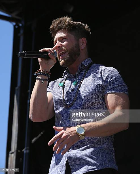 Singer Chris Lane performs onstage at the 4th ACM Party for a Cause Festival at the Las Vegas Festival Grounds on April 2 2016 in Las Vegas Nevada