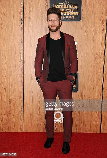 Singer Chris Lane poses in the press room at the 2016 American Country Countdown Awards at The Forum on May 01 2016 in Inglewood California