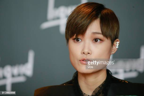 Singer Chris Lee attends a news conference after Chinese internet giant Tencent and Sony Music Entertainment signing distribution partnership on...