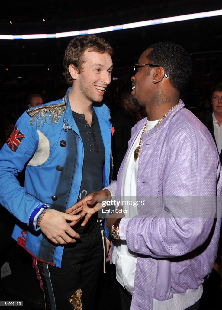 Singer Chris Martin of Coldplay and rapper Sean 'Diddy' Combs attend the 51st Annual GRAMMY Awards held at the Staples Center on February 8, 2009 in Los Angeles, California.