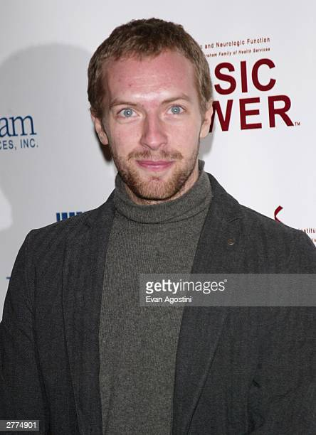 Singer Chris Martin photographed during arrivals at the Third Annual Music Has Power Awards at theLincoln Center Samuel B and David Rose Building...