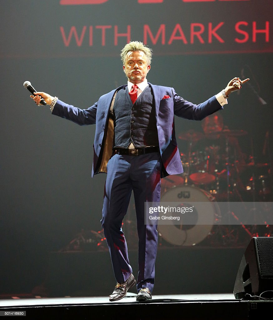 Singer Chris Phillips of Zowie Bowie performs during the Mondays Dark 2nd anniversary at The Joint inside the Hard Rock Hotel & Casino on December 14, 2015 in Las Vegas, Nevada.