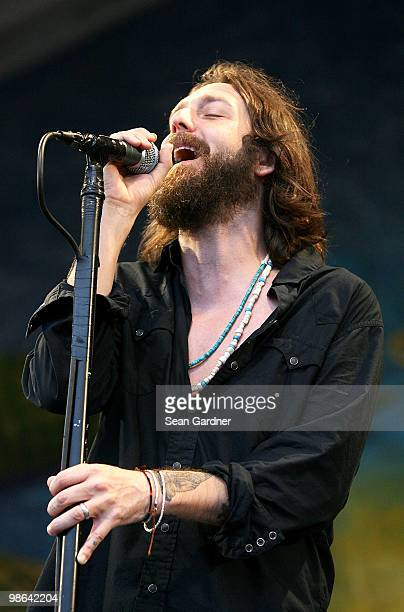 Singer Chris Robinson of the Black Crows performs at the 2010 New Orleans Jazz Heritage Festival Presented By Shell>> at the Fair Grounds Race Course...