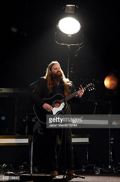 Singer Chris Stapleton performs onstage at the 2016 MusiCares Person of the Year honoring Lionel Richie at the Los Angeles Convention Center on...