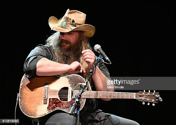 Singer Chris Stapleton performs onstage during All For The Hall Los Angeles A benefit concert presented by The Country Music Hall of Fame And Museum...