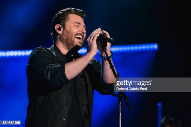 Singer Chris Young performs at Nissan Stadium during day 3 of the 2017 CMA Music Festival on June 10 2017 in Nashville Tennessee