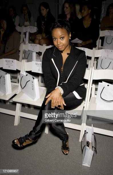 Singer Chrisette Michele attends Allude Spring 2010 during MercedesBenz Fashion Week at Bryant Park on September 17 2009 in New York City