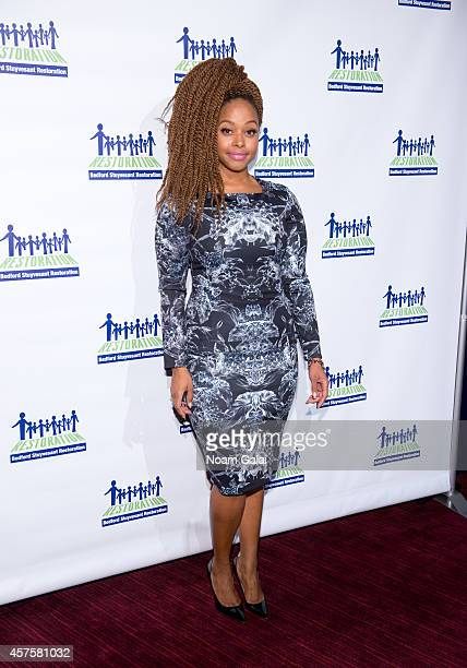 Singer Chrisette Michele attends the 2014 Restore Brooklyn Benefit at Frederick P Rose Hall Jazz at Lincoln Center on October 20 2014 in New York City