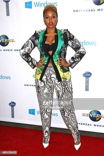 Singer Chrisette Michele attends the Universal Music Group 2014 post GRAMMY party held at The Ace Hotel Theater on January 26 2014 in Los Angeles...