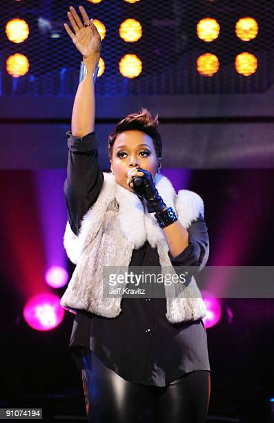 Singer Chrisette Michele onstage at the 2009 VH1 Hip Hop Honors at the Brooklyn Academy of Music on September 23 2009 in the Brooklyn borough of New...