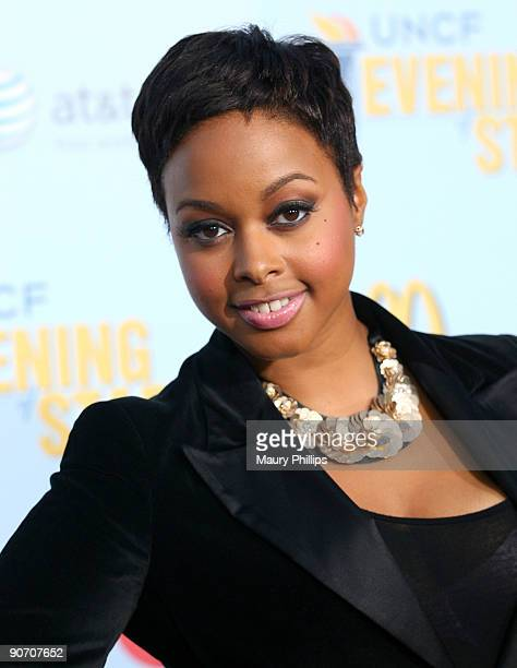 Singer Chrisette Michelle arrives at An Evening of Stars A Tribute To Lionel Richie hosted by UNCF at the Pasadena Civic Auditorium on September 12...