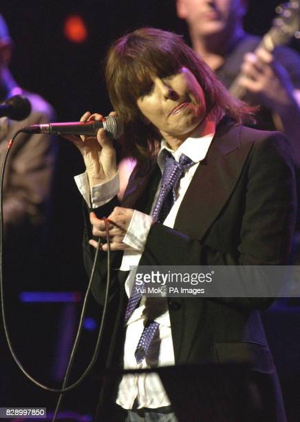 Singer Chrissie Hynde from The Pretenders performs live on stage during An Evening With Jools Holland as part of the 'The Who And Friends'...