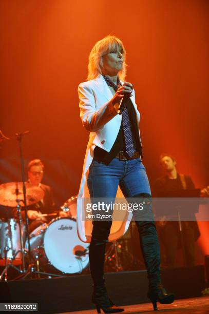 Singer Chrissie Hynde performs live on stage with the Valve Bone Woe Ensemble as part of EFG London Jazz Festival at The Royal Festival Hall on...