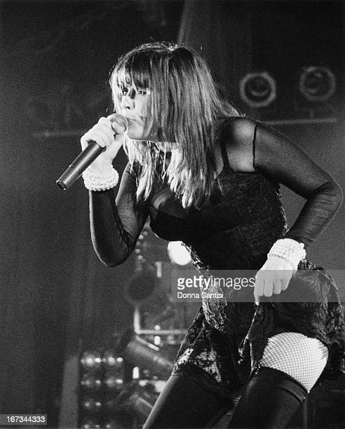 Singer Chrissy Amphlett performing with Australian rock group Divinyls at the Hollywood Palladium Los Angeles California 1991