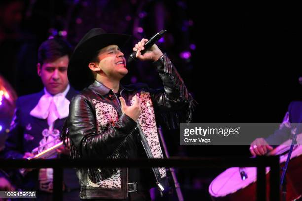 Singer Christian Nodal performs onstage during a concert as part of the 'Jaripeo Sin Fronteras' tour at American Airlines Center on November 18 2018...