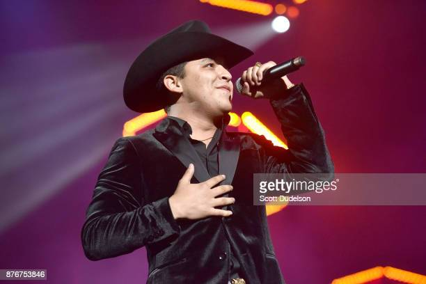 Singer Christian Nodal performs onstage during Uforia's KLove Live concert at The Forum on November 19 2017 in Inglewood California