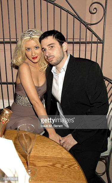 Singer Christina Aguilera and her husband Jordan Bratman attend the VIP party hosted by jeweller Stephen Webster to celebrate 30 years of his...