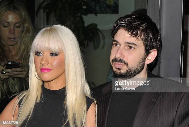 Singer Christina Aguilera and husband Jordan Bratman attends Rock The Vote Hosted by Christina Aguilera held at the Esquire House Hollywood Hills on...