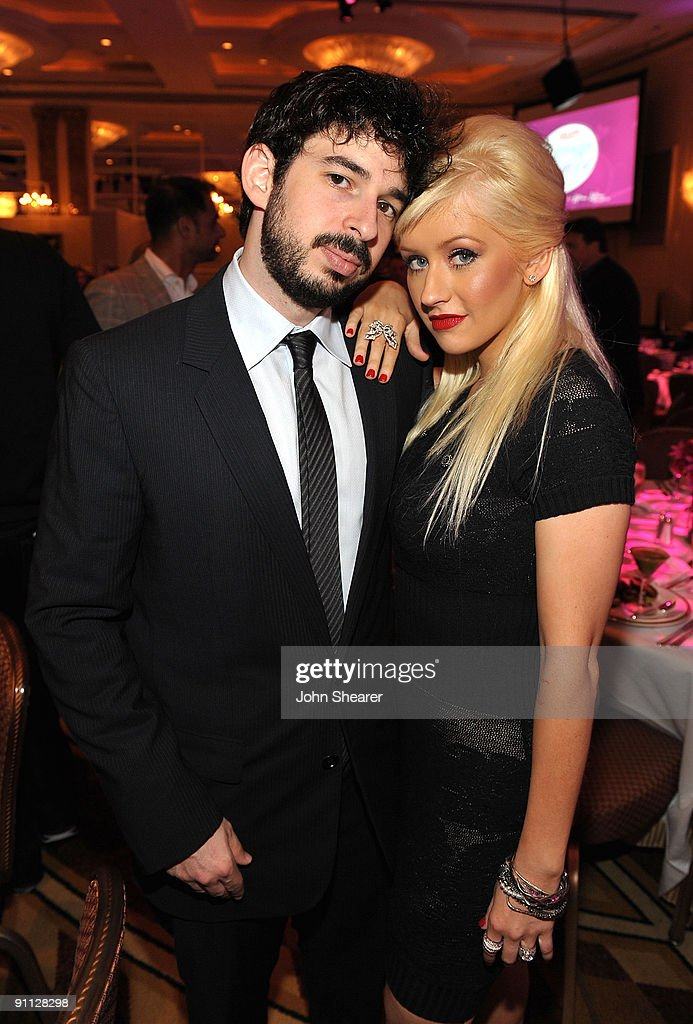 Singer Christina Aguilera (R) and Jordan Bratman attend Variety's 1st Annual Power of Women Luncheon at the Beverly Wilshire Hotel on September 24, 2009 in Beverly Hills, California.