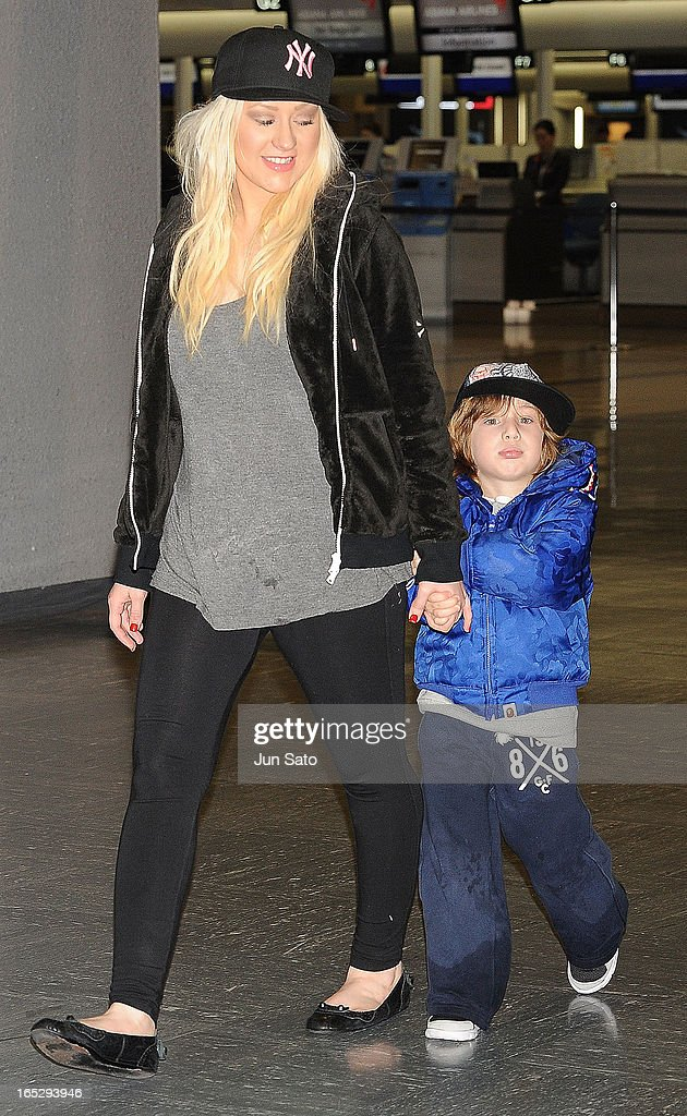 Christina Aguilera Family Sighting : News Photo