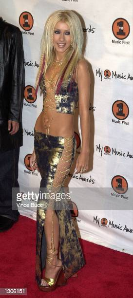 Singer Christina Aguilera arrives at My VH1 Music Awards November 30 2000 in Los Angeles CA
