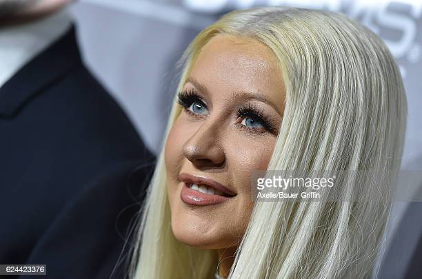 Singer Christina Aguilera arrives at the 5th Annual Baby2Baby Gala at 3LABS on November 12 2016 in Culver City California