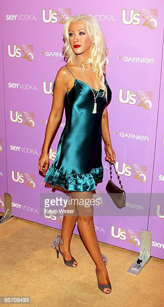 Singer Christina Aguilera arrives at US Weekly's Young Hollywood Hot 20 at LAX on September 16 2005 in Los Angeles California