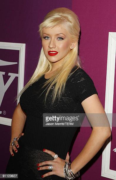 Singer Christina Aguilera arrives at Variety's 1st Annual Power of Women Luncheon at the Beverly Wilshire Hotel on September 24 2009 in Beverly Hills...