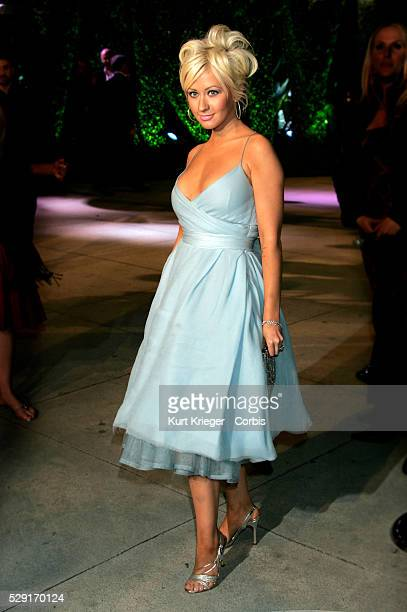 Singer Christina Aguilera at the Vanity Fair Oscar Party at Morton's Restaurant in West Hollywood