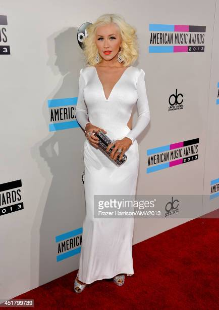 Singer Christina Aguilera attends 2013 American Music Awards at Nokia Theatre LA Live on November 24 2013 in Los Angeles California