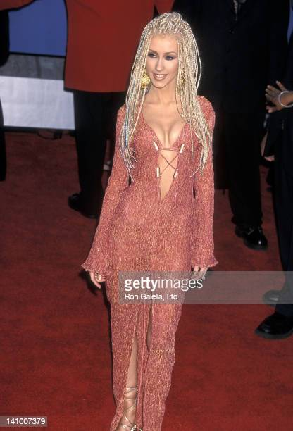 Singer Christina Aguilera attends the 43rd Annual Grammy Awards on February 21 2001 at the Staples Center in Los Angeles California