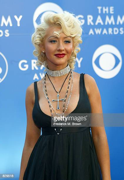 Singer Christina Aguilera attends the 44th Annual Grammy Awards at Staples Center February 27 2002 in Los Angeles CA