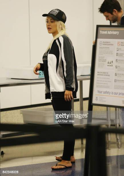 Singer Christina Aguilera is seen on September 3 2017 in Los Angeles CA