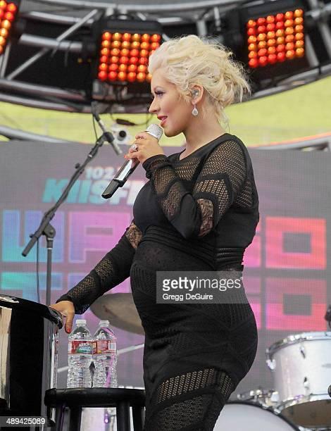 Singer Christina Aguilera performs at 1027 KIIS FM's 2014 Wango Tango at StubHub Center on May 10 2014 in Los Angeles California