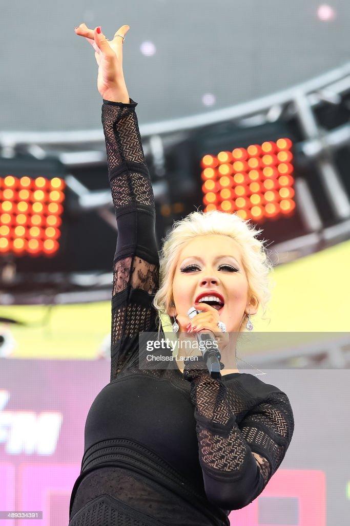 Singer Christina Aguilera performs at 102.7 KIIS FM's Wango Tango at StubHub Center on May 10, 2014 in Los Angeles, California.