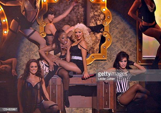 Singer Christina Aguilera performs onstage during the 2010 American Music Awards held at Nokia Theatre L.A. Live on November 21, 2010 in Los Angeles,...