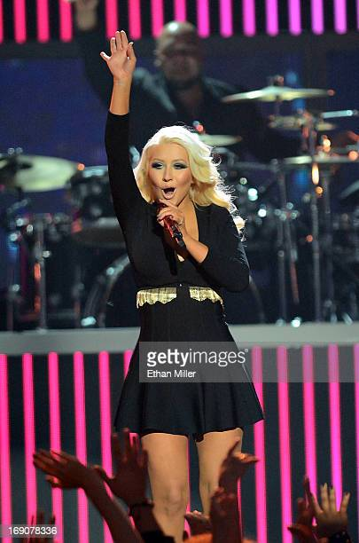 Singer Christina Aguilera performs onstage during the 2013 Billboard Music Awards at the MGM Grand Garden Arena on May 19 2013 in Las Vegas Nevada