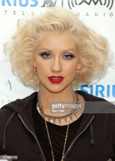 Singer Christina Aguilera visits SIRIUS XM Studio on June 8 2010 in New York City
