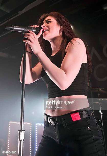 Singer Christina 'Chrissy' Costanza of the American band Against the Current performs live during a concert at the Postbahnhof on March 11 2016 in...