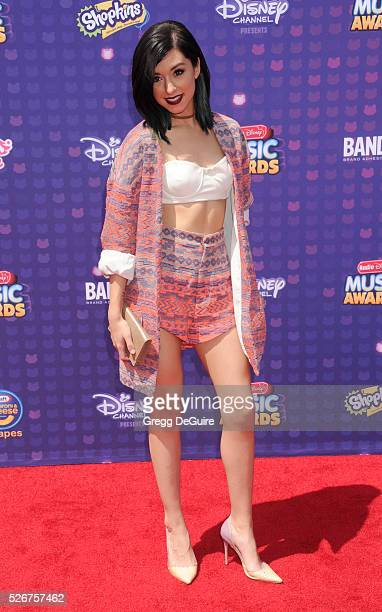 Singer Christina Grimmie arrives at the 2016 Radio Disney Music Awards at Microsoft Theater on April 30, 2016 in Los Angeles, California.