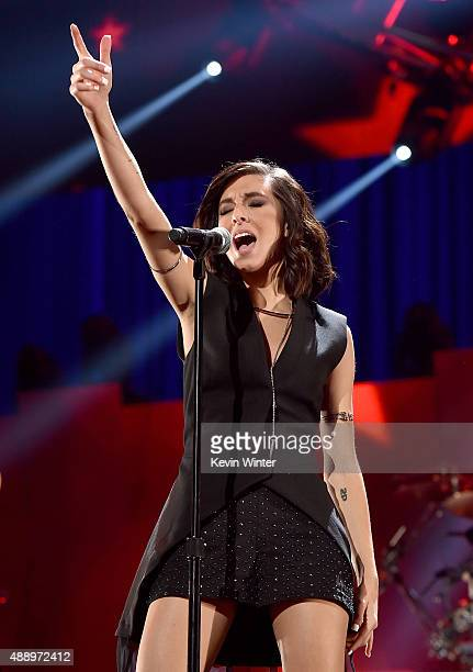 Singer Christina Grimmie performs onstage at the 2015 iHeartRadio Music Festival at MGM Grand Garden Arena on September 18 2015 in Las Vegas Nevada