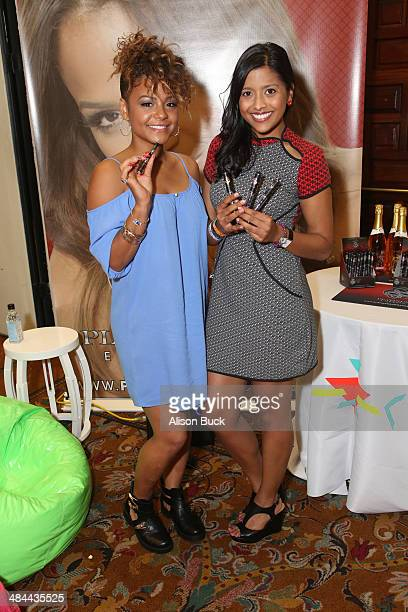 Singer Christina Milian and actress Tiya Sircar attends the Kari Feinstein Music Festival Style Lounge at La Quinta Resort and Club on April 12 2014...